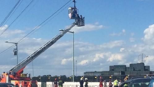 Rescatadas en Alemania un centenar de personas en el teleférico sobre el Rin