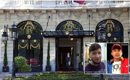 Los hijos de Maduro se alojan 18 días en el Ritz en plena ola de represión