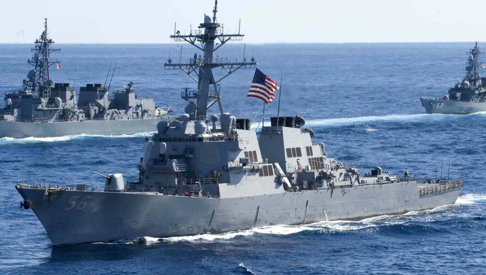 Cinco marineros heridos y otros diez desaparecidos tras la colisión de un destructor estadounidense