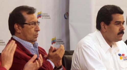 Adan Chavez y Nicolas Maduro