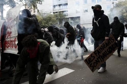 Disturbios en la manifestación en París contra la reforma laboral de Macron