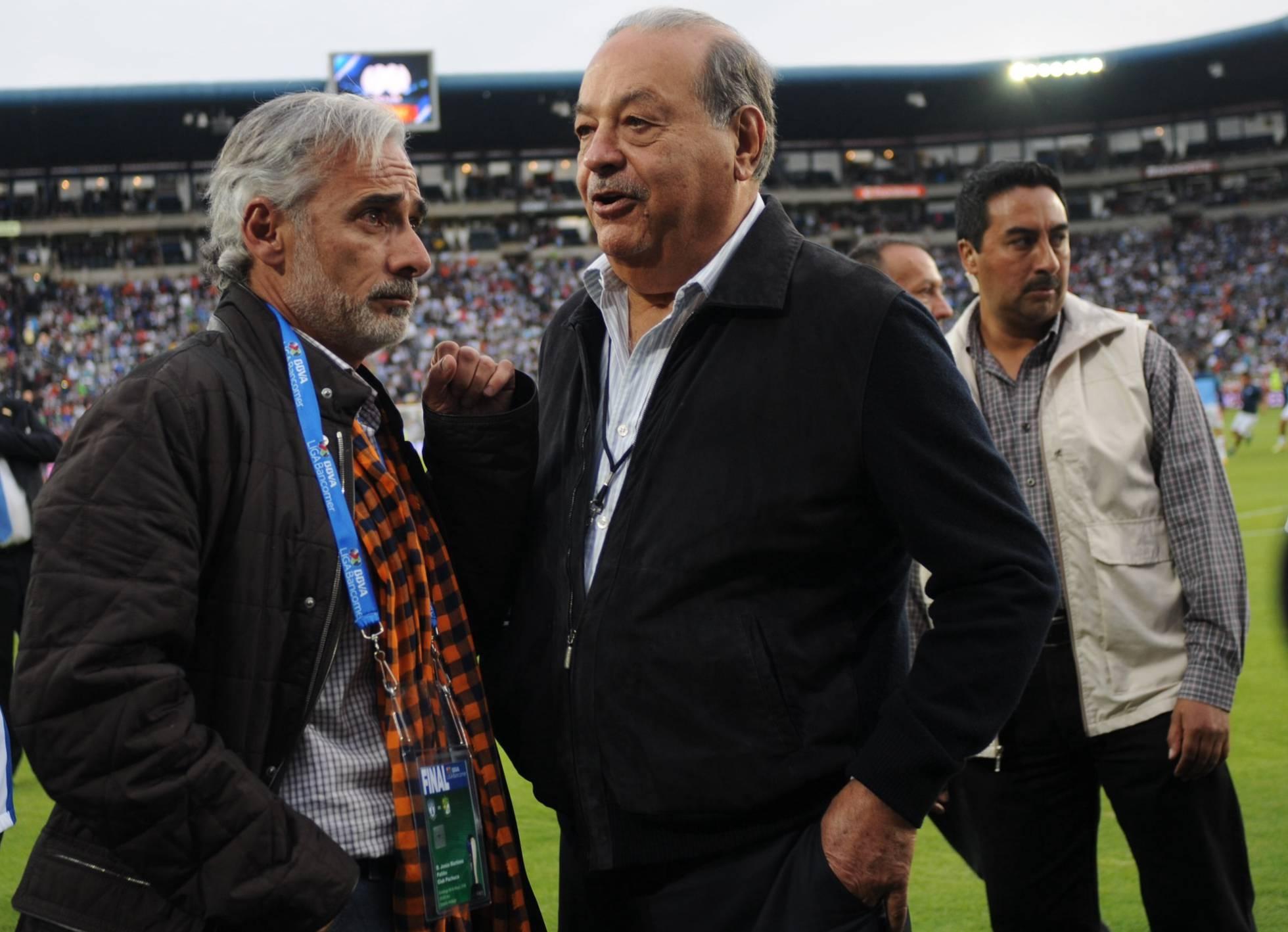 Jesus Martinez y Carlos Slim
