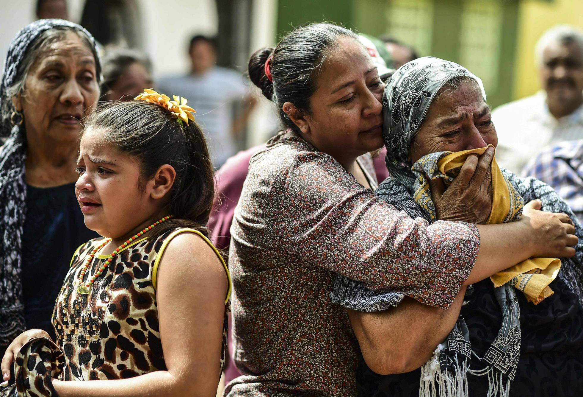 familiares victimas sismo