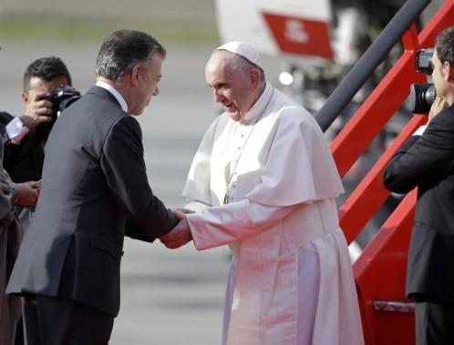 papa francisco y presidente santos