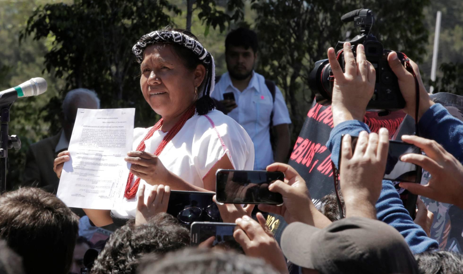 HSBC niega una cuenta a la indígena que aspira a la presidencia de México en 2018