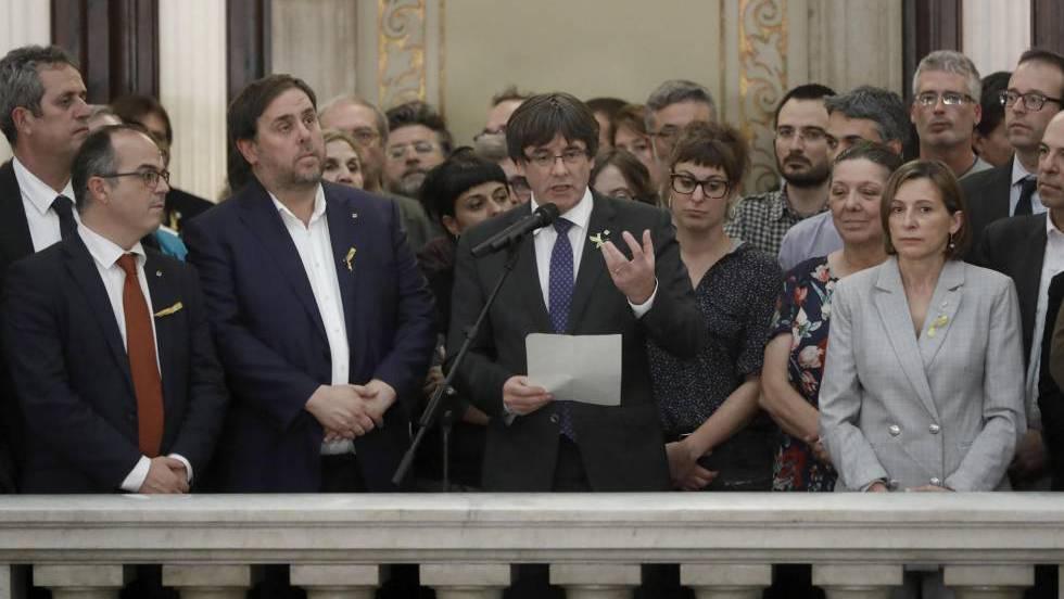 La Fiscalía pide citar a Puigdemont por rebelión, sedición y malversación