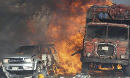 camion detonado por terroristas