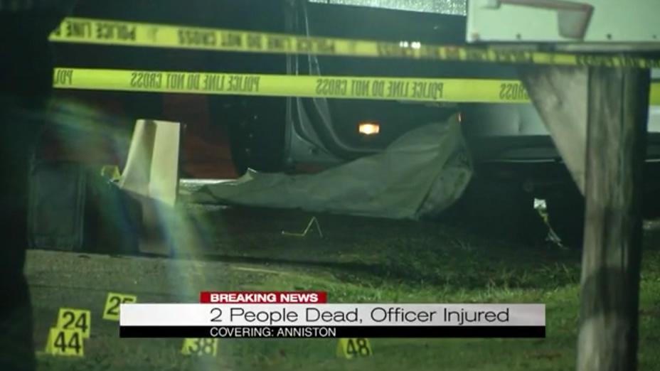 Oficial herido de bala, sospechoso muerto, mientras la policía investigaba un homicidio en una casa en Anniston
