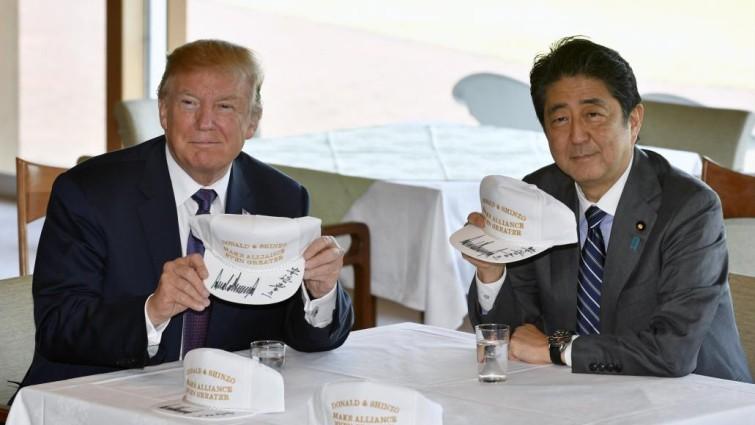 Trump y Shinzo Abe
