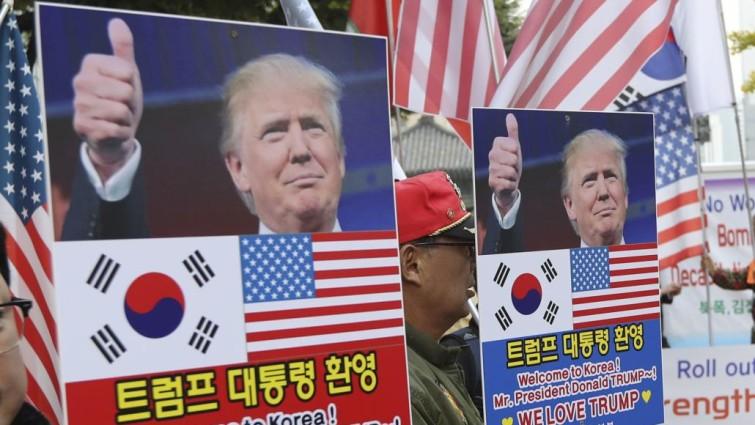 Washington exhibe músculo militar ante Pyongyang ante la visita de Trump