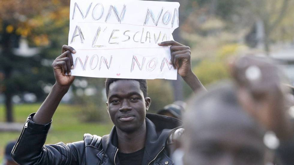 manifestacion contra esclavitud
