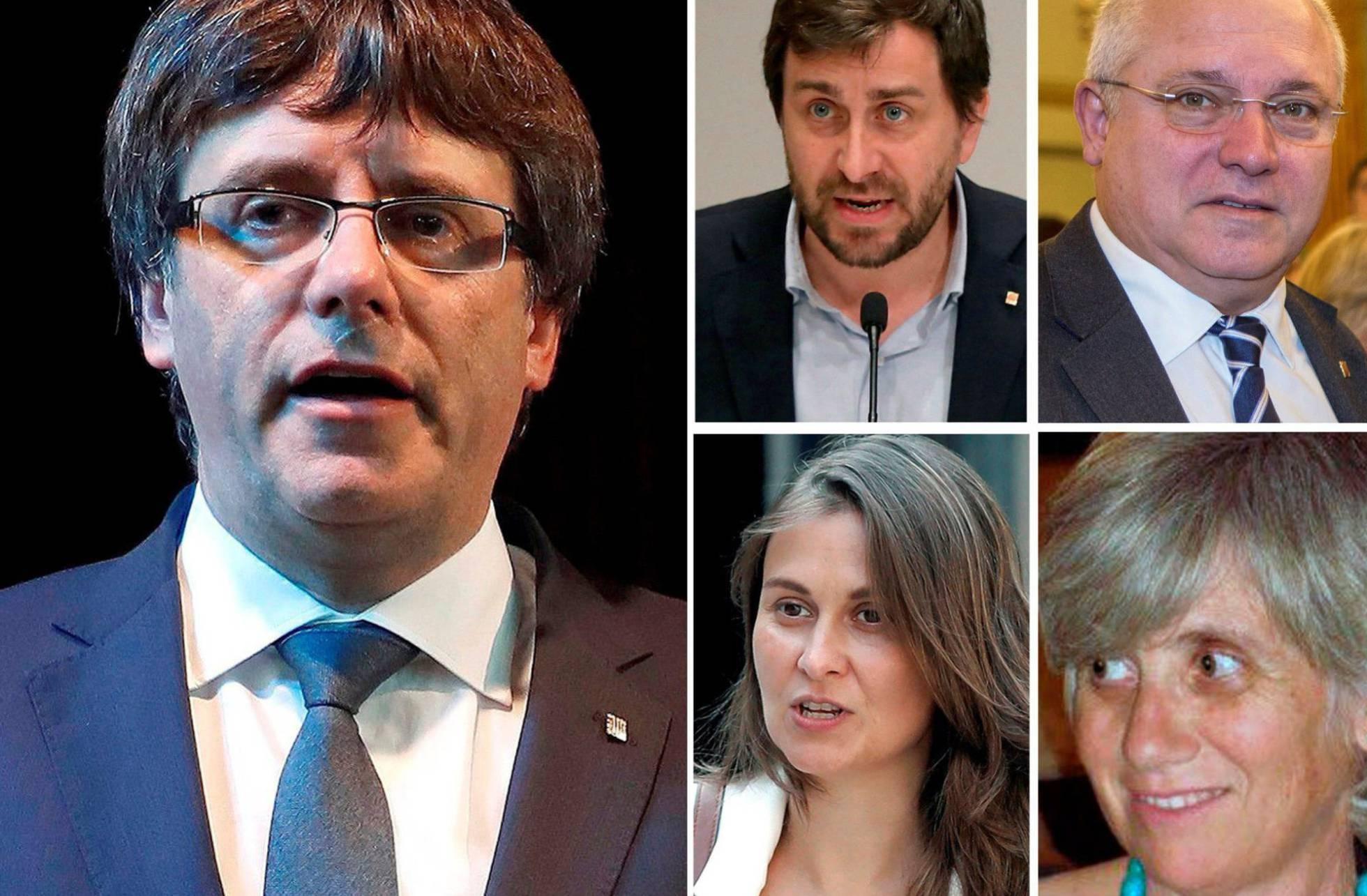 Orden de búsqueda y captura contra Puigdemont y los exconsejeros huidos