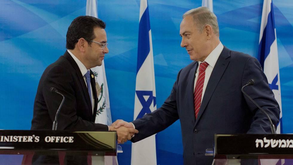 Jimmy Morales y Benjamin Netanyahu
