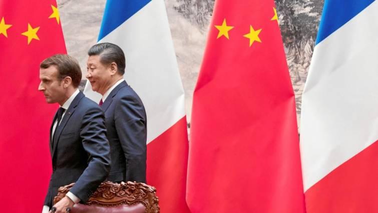 Macron y Xi Jinping