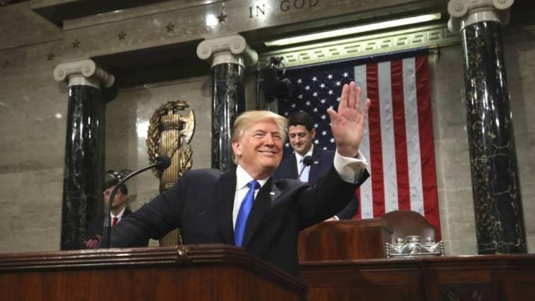 Trump defiende ante el Congreso su «extraordinario éxito» como presidente