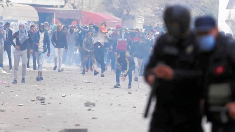 protestas en tunez