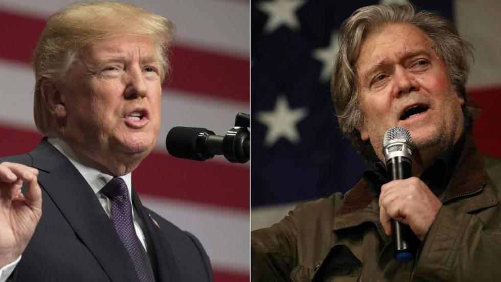 Trump cierra filas con la élite republicana tras romper con Steve Bannon