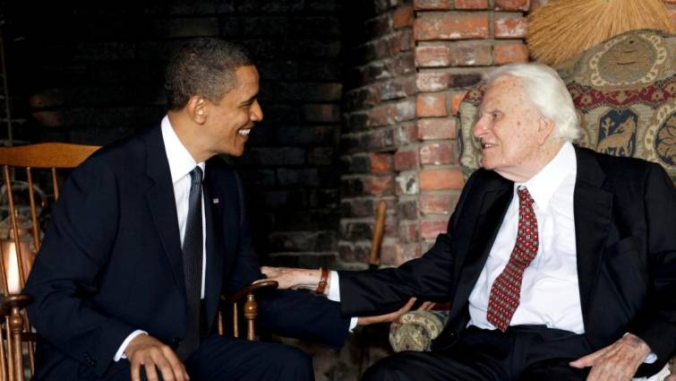 Obama y Billy Graham