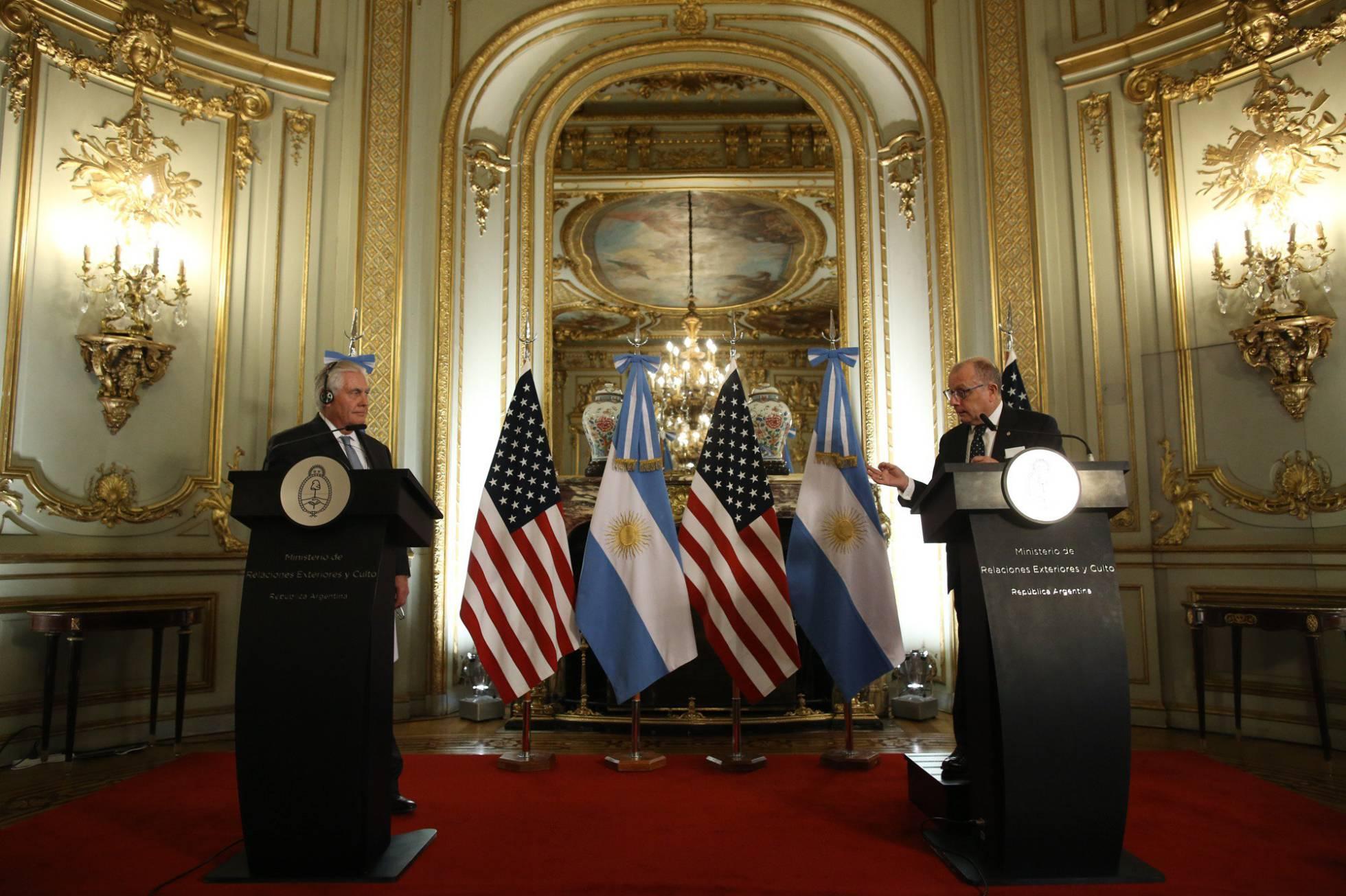 Rex Tillerson y Jorge Faurie