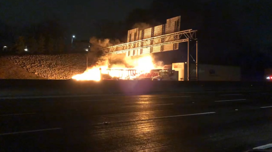 Todos los carriles de la I-20/59 SB abren de nuevo, después de horas de limpieza del incendio de camión de 18 ruedas