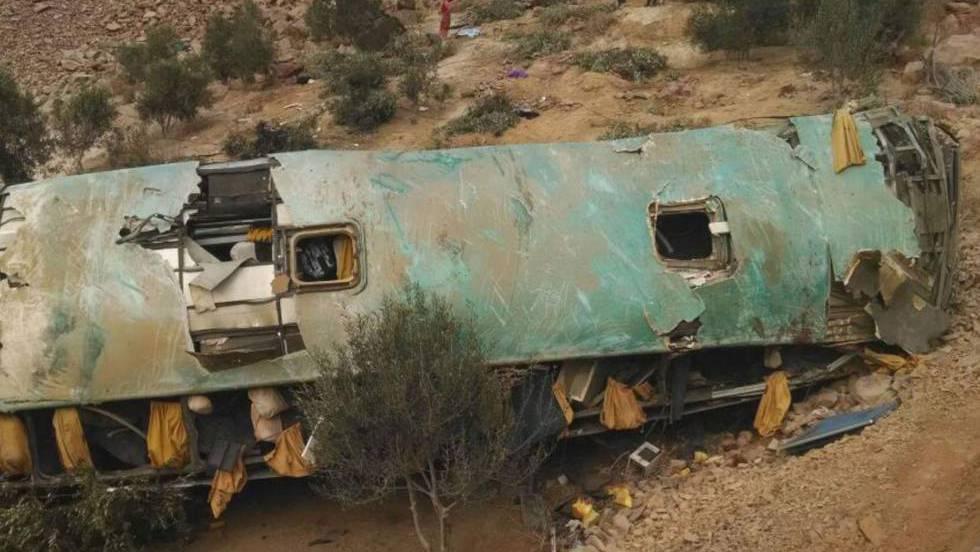 Al menos 44 muertos en un accidente de autobús en el sur de Perú