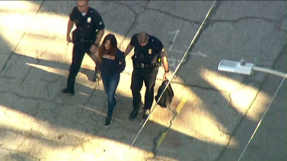 Dos estudiantes heridos en un tiroteo en un instituto de Los Ángeles