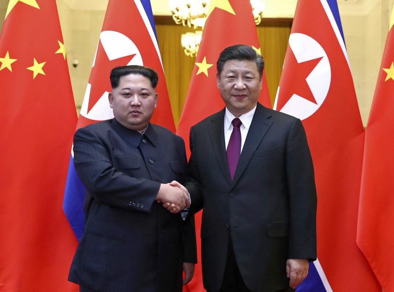Kim Jong Un y Xi Jinping