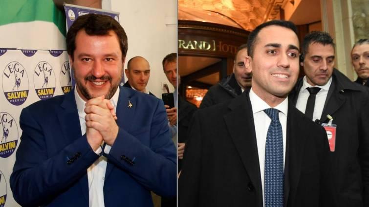 Así son Matteo Salvini y Luigi Di Mario, los dos líderes que aspiran a presidir Italia