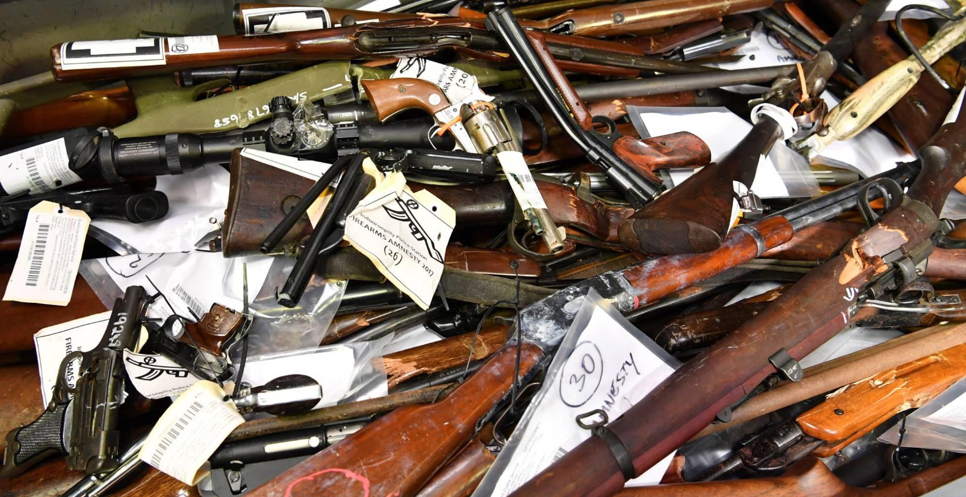 armas confiscadas australia