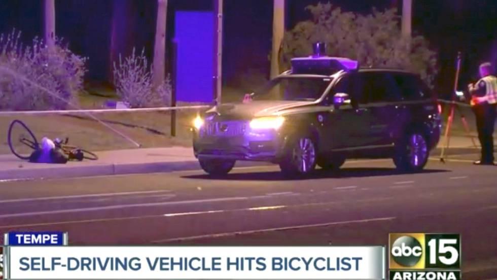 Primer atropello mortal causado por un coche sin conductor de Uber en Arizona