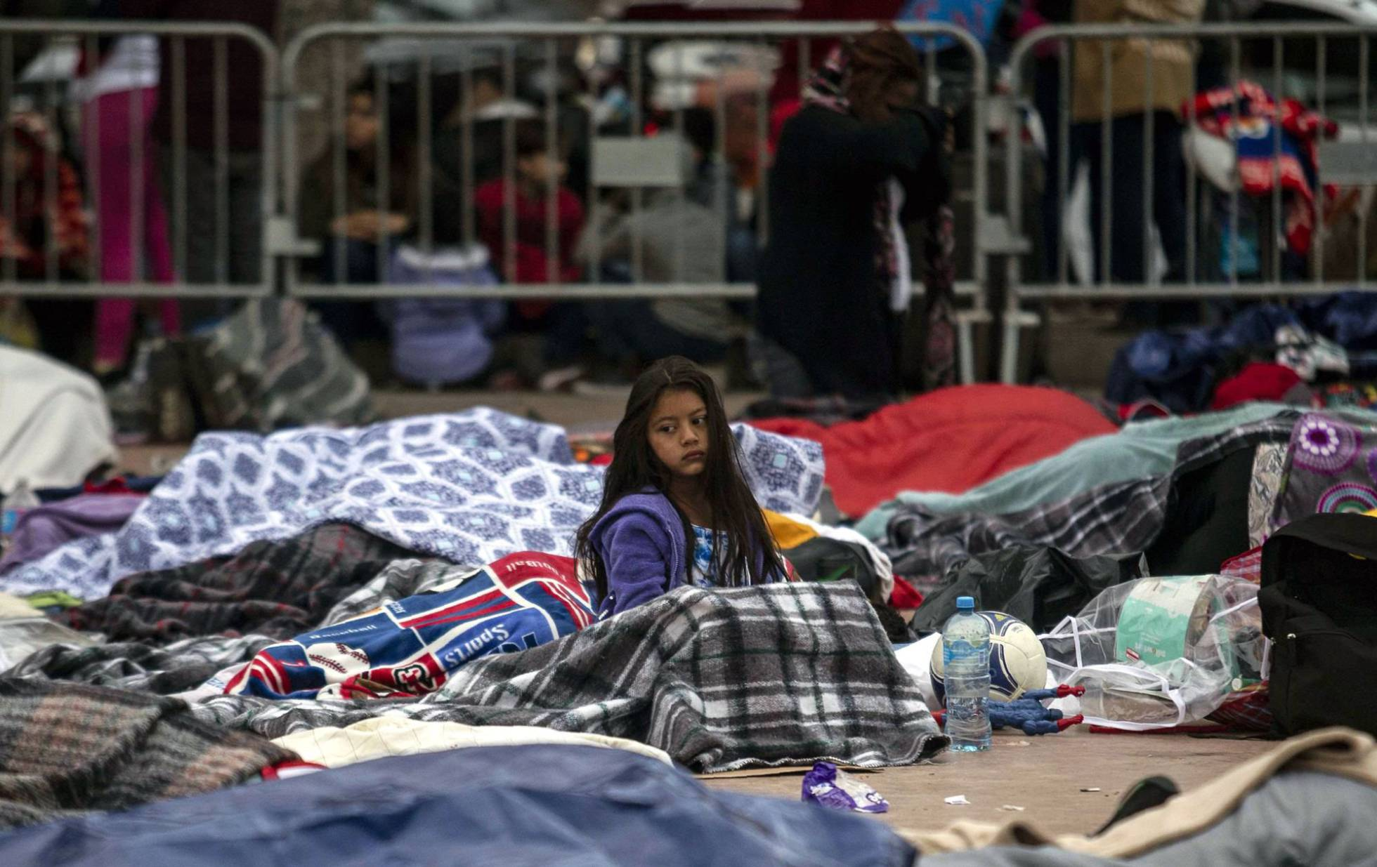 emigrantes de la caravana