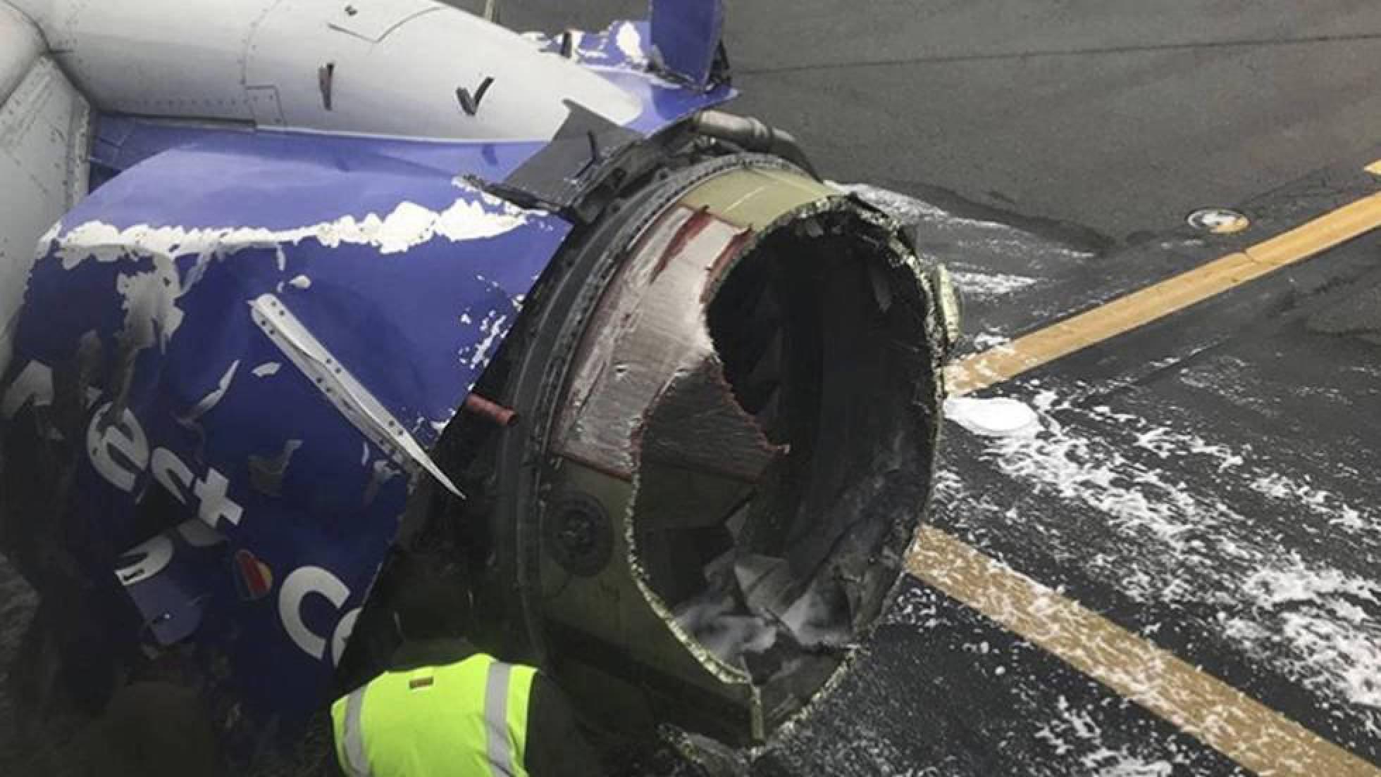 motor izquierdo avion accidentado