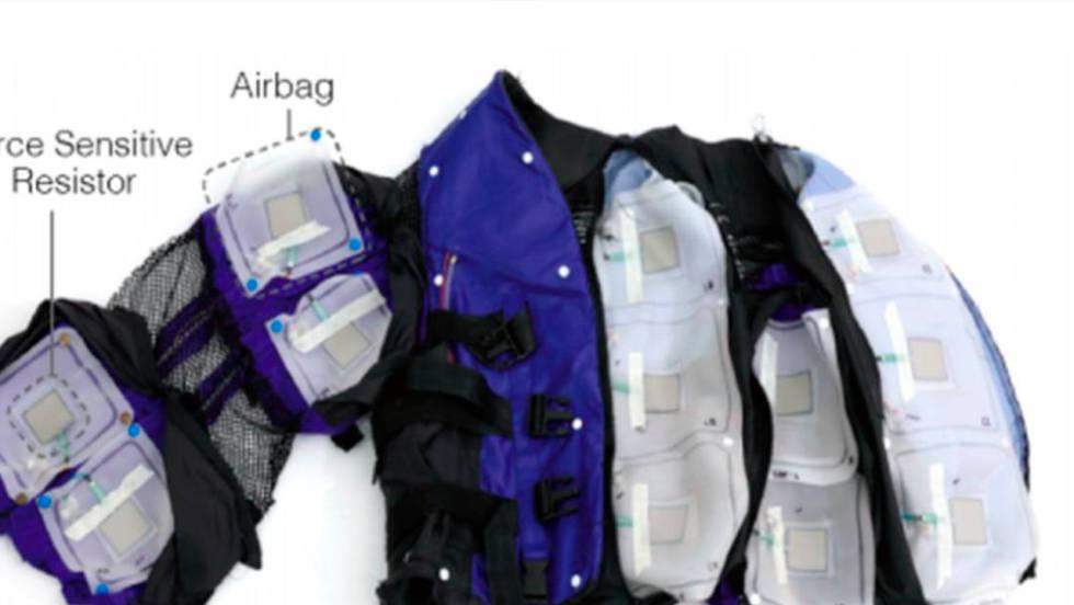 prototipo de la chaqueta realidad virtual