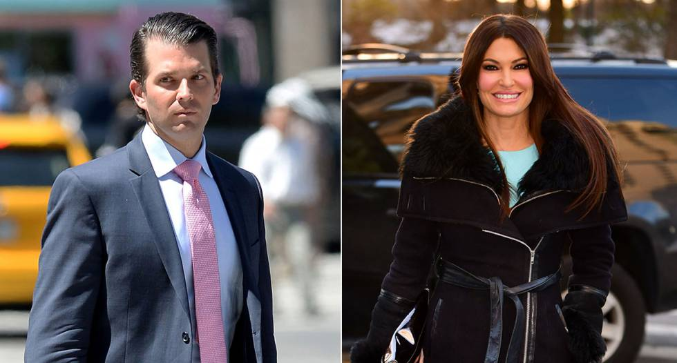 Donald Trump Jr. sale con la presentadora de Fox Kimberly Guilfoyle