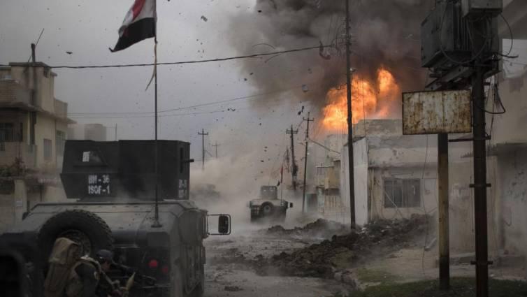 explosion en mosul