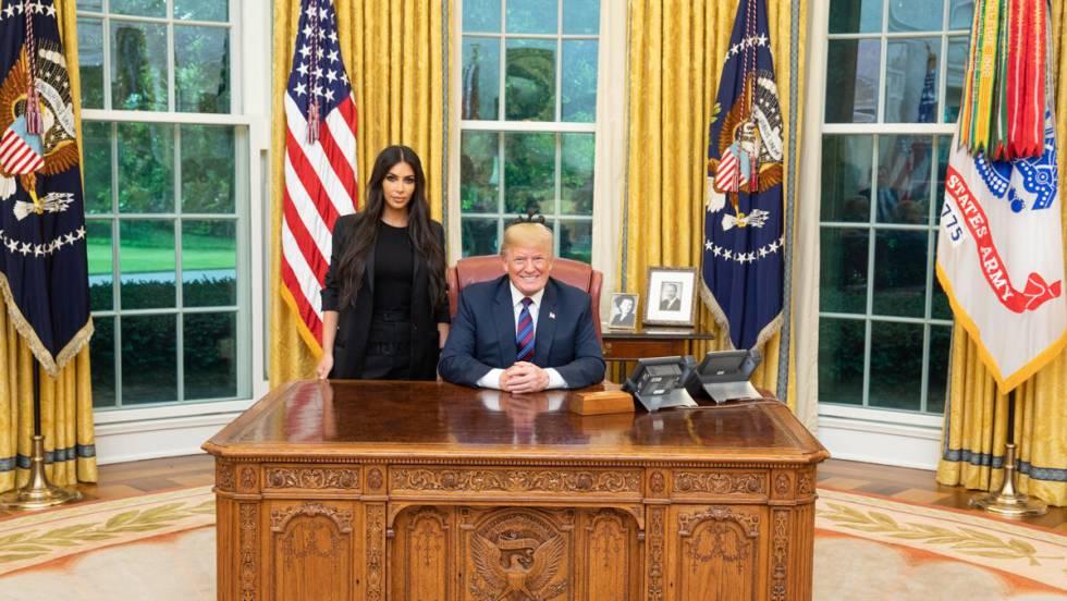 kim kardashian y trump