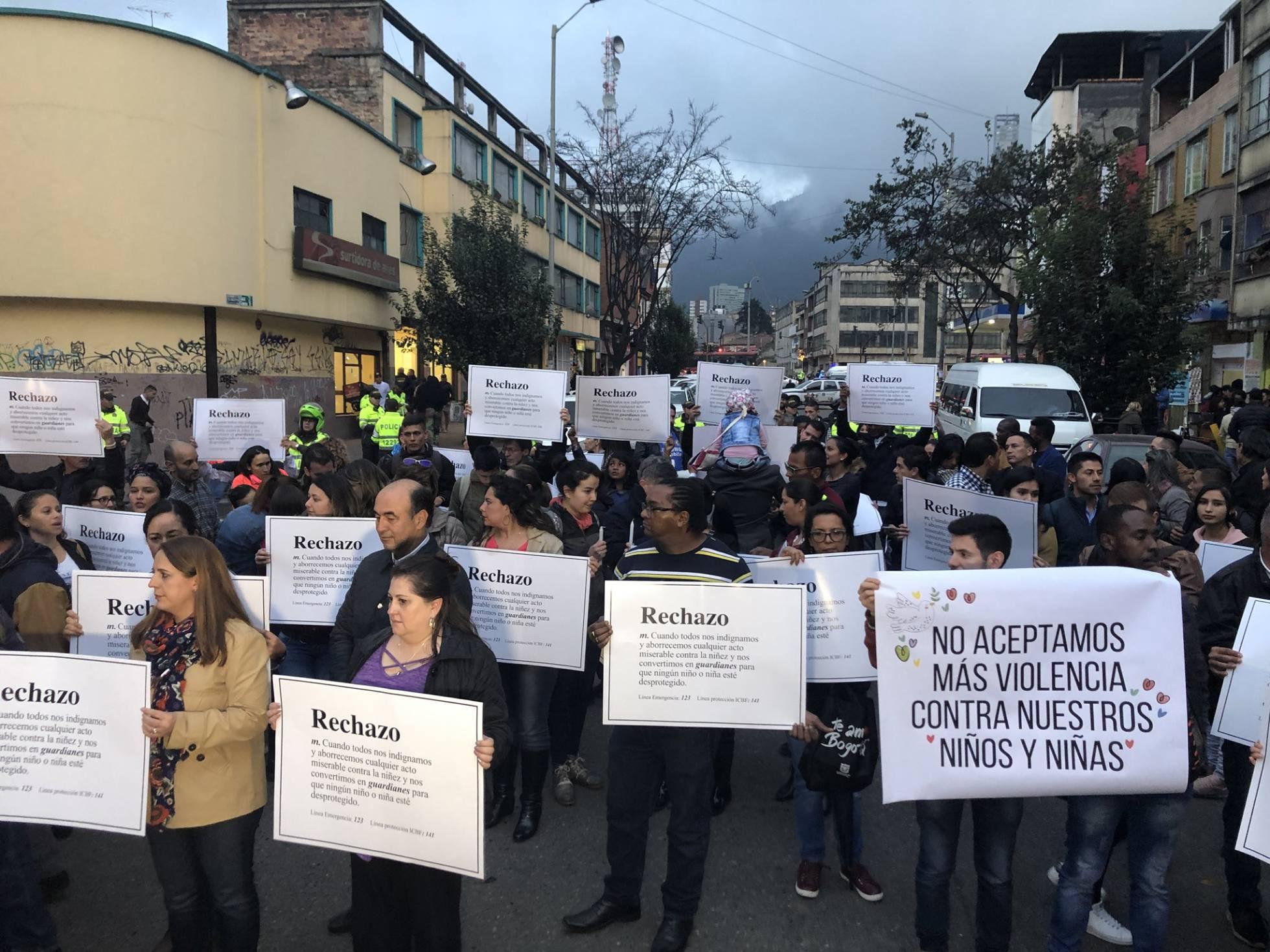 manifestacion bogota colombia