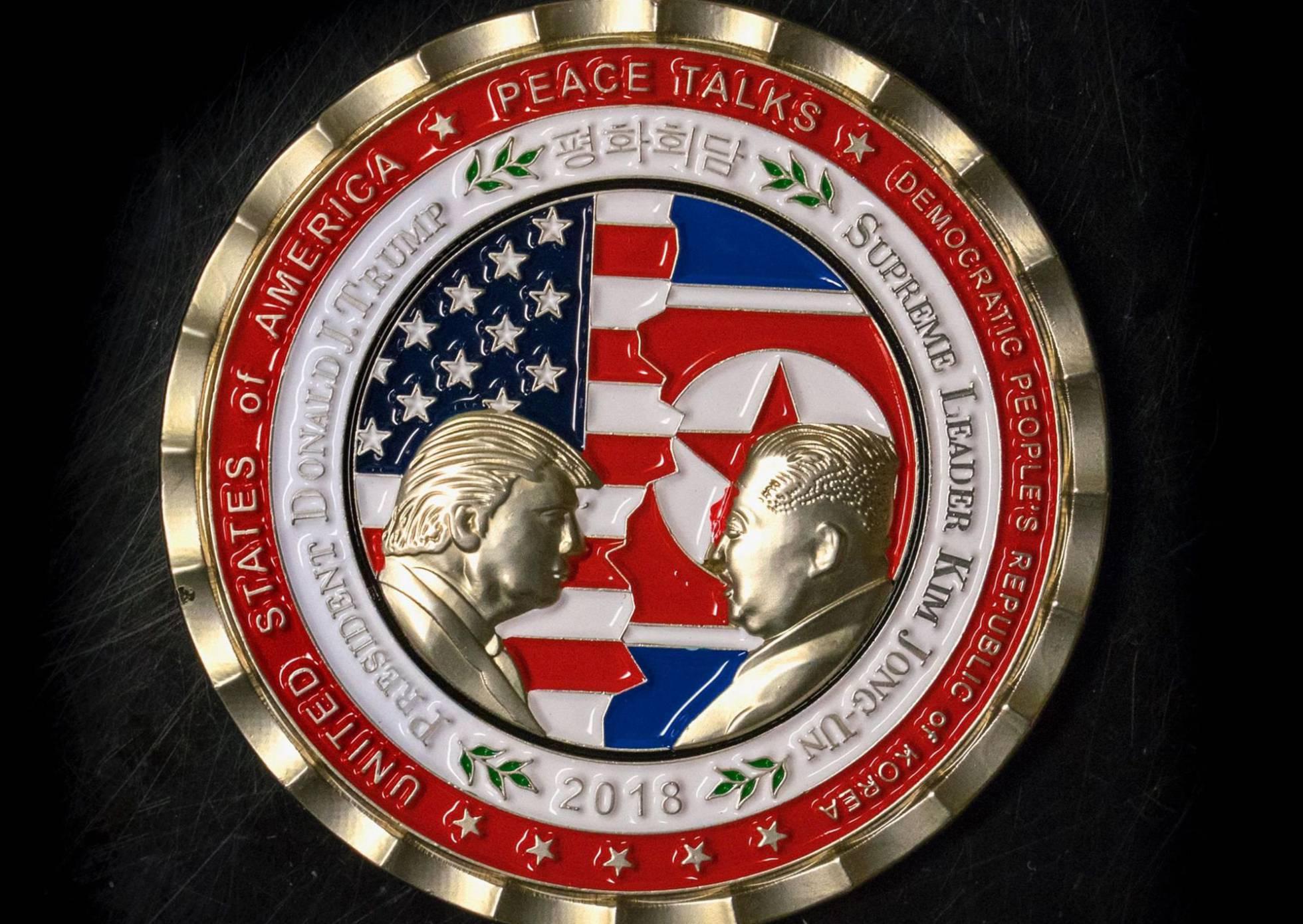 La Casa Blanca desata una polémica al acuñar una moneda conmemorativa de Trump y Kim