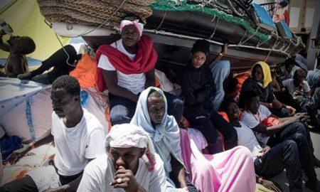 Migrantes a bordo del Aquarius
