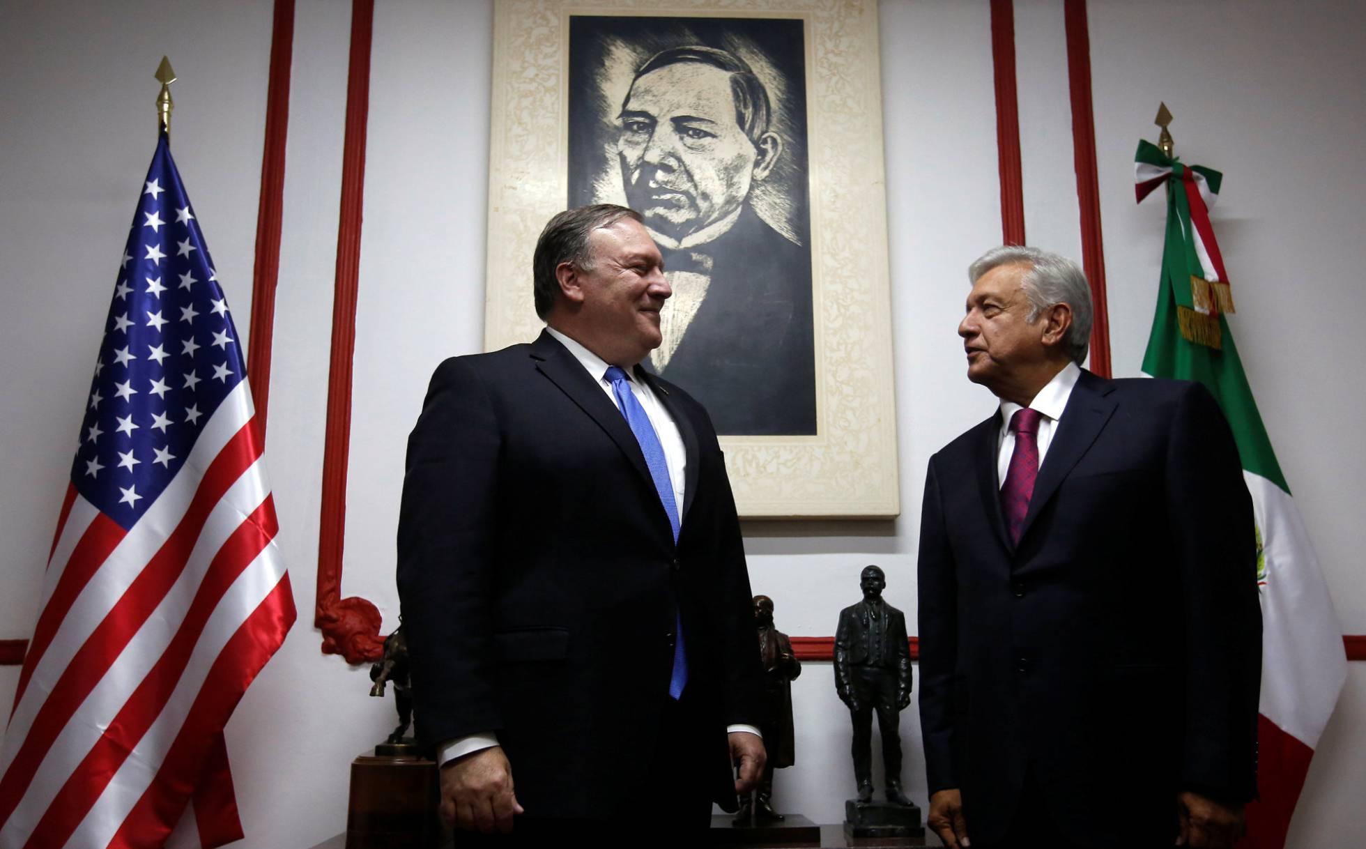 Mike Pompeo y Lopez Obrador