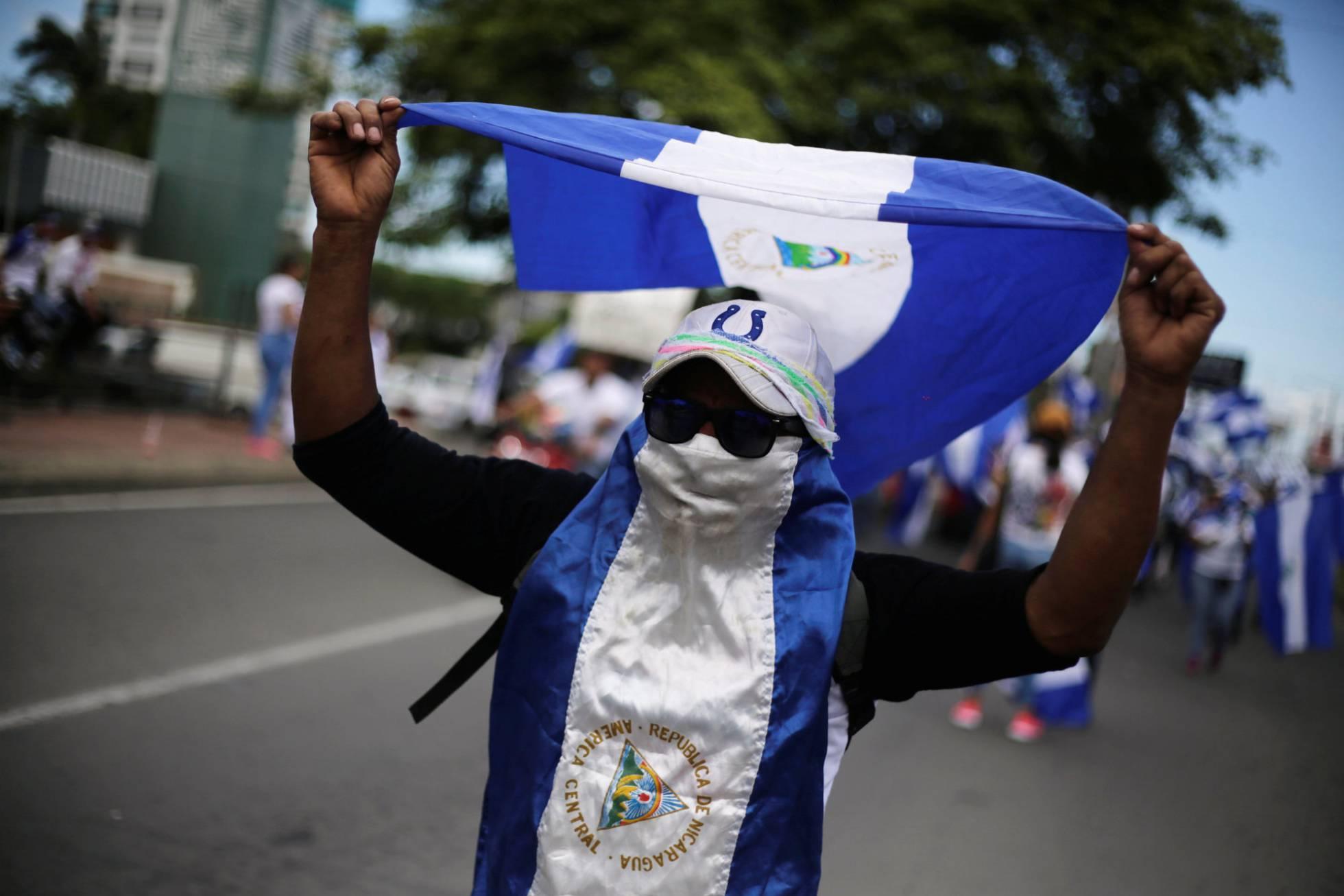 manifestante nicaragua