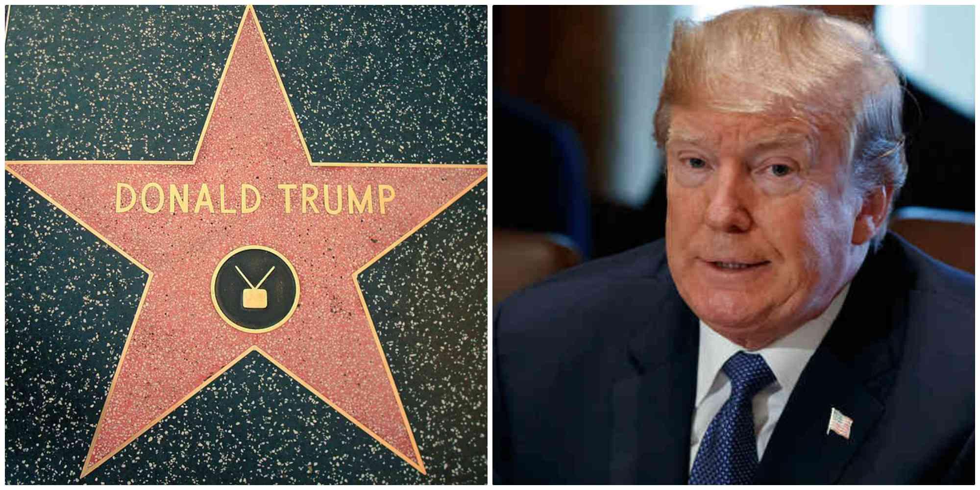 Donald Trump perdería su estrella en el paseo de la fama de Hollywood