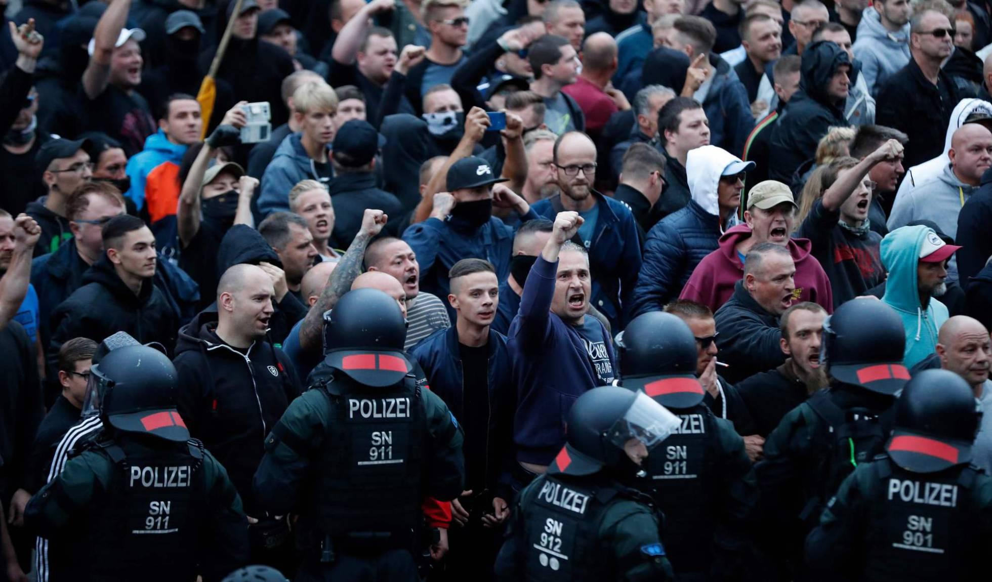 manifestantes en alemania