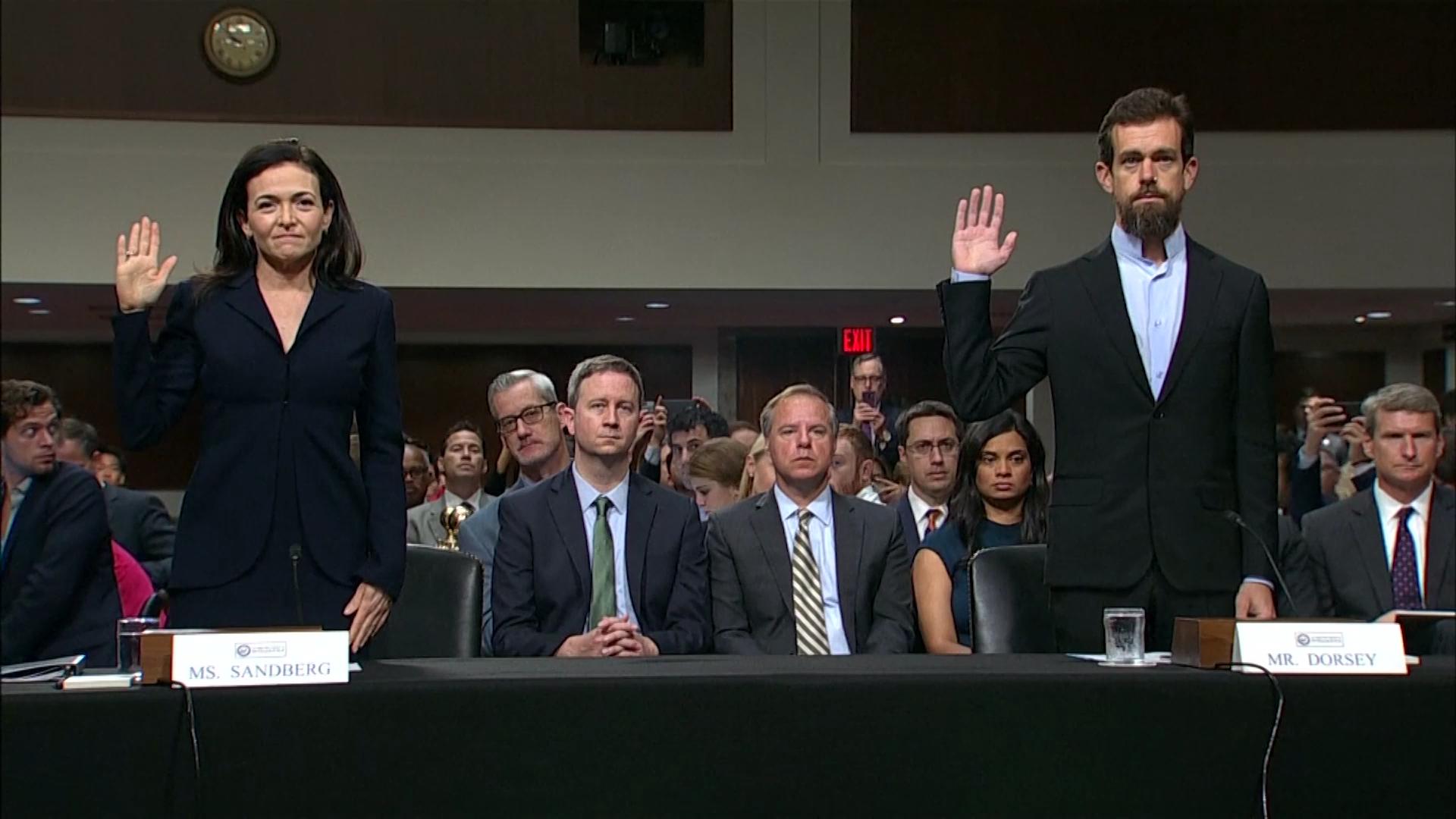 Sheryl Sandberg y Jack Dorsey