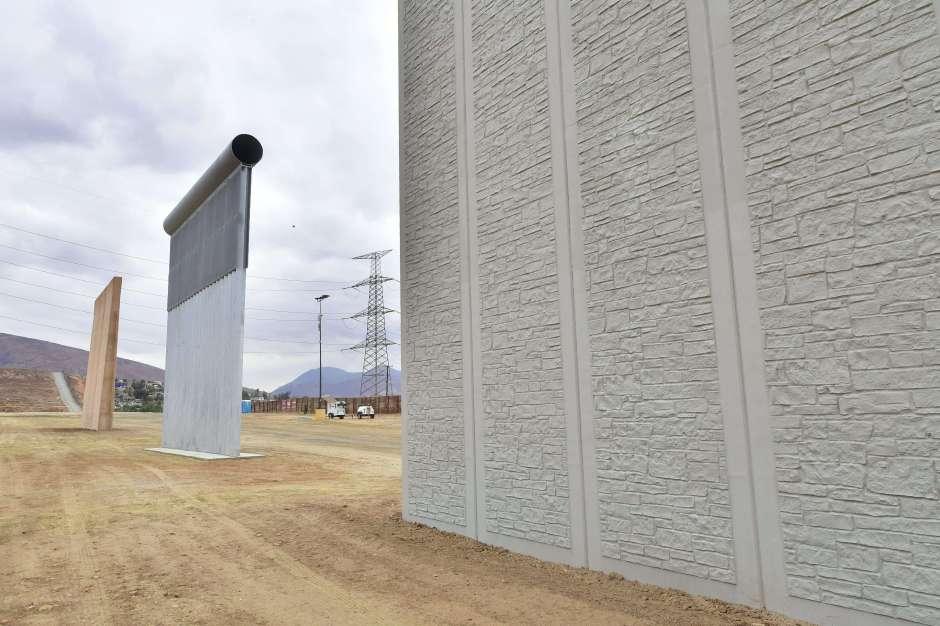 Fallaron los prototipos de muros impulsados por el presidente Trump para frenar la migración en la frontera