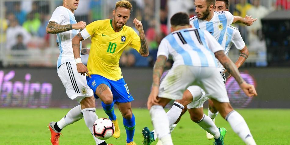 En el minuto 93, Brasil derrotó 1-0 a Argentina