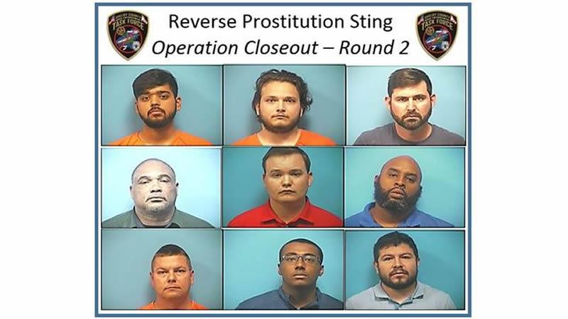 9 hombres arrestados por prostitucion