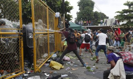 enfrentamientos inmigrantes frontera guatemala mexico