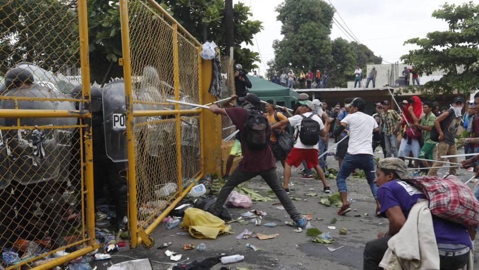 enfrentamientos inmigrantes frontera guatemala
