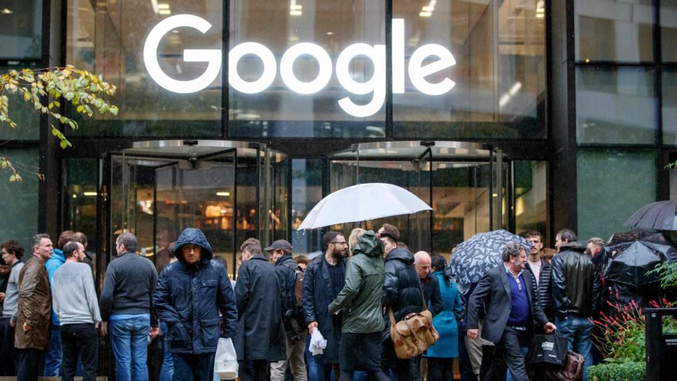 Protesta global de trabajadores de Google contra su política ante el acoso sexual